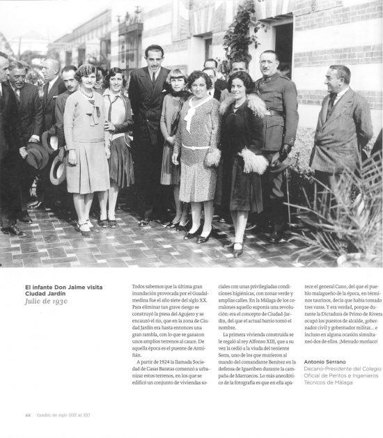 El infante Don Jaime visita Ciudad Jardín. Julio de 1930